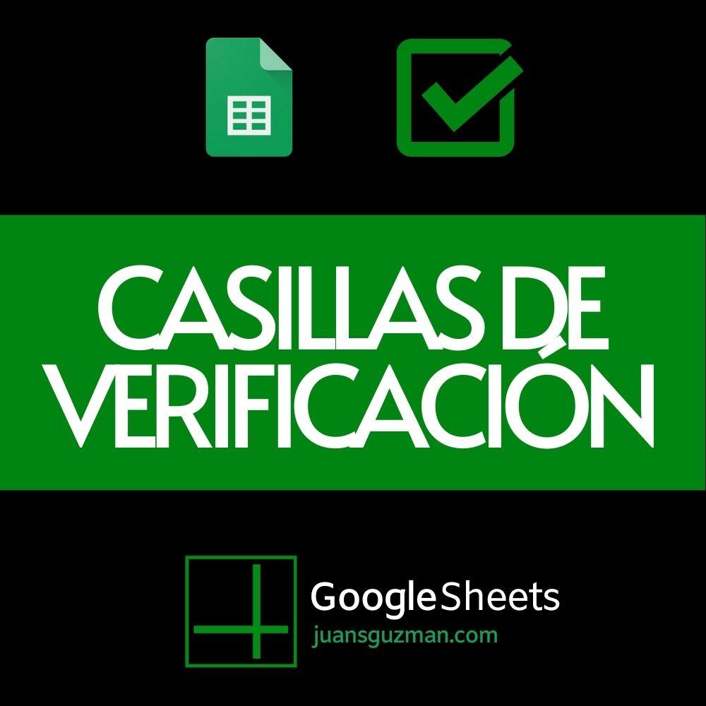 Casillas de verificación en Google Sheets