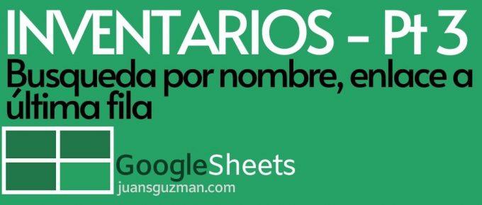 Busqueda por nombre en Google Sheets